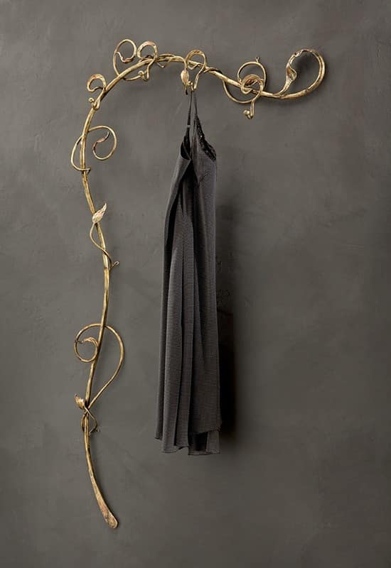 AT/501, Wall clothes trees in wrought iron, modern style