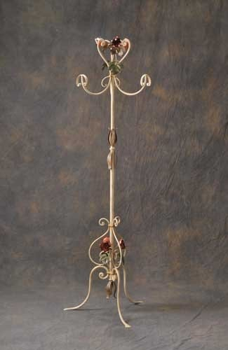 AT.7775/3, Decorated wrought iron coat rack