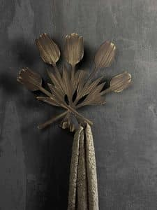 Bouquet  coat hook, Metal wall hanger, in modern style