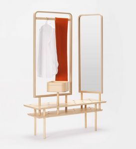 Etta wardrobe, Dresser hanger, with mirror