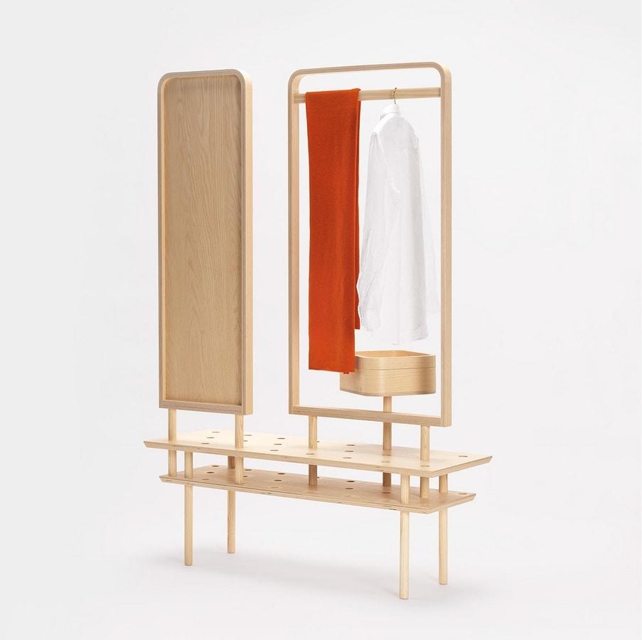Etta wardrobe, Dresser hanger, with mirror
