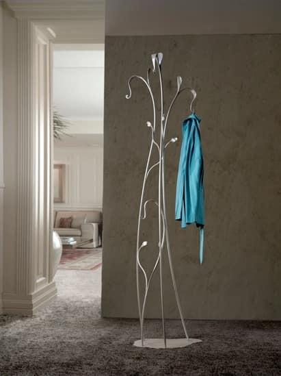 Garden, Floor Hangers in wrought iron with plant shape
