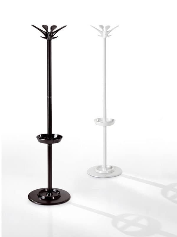 Gioia, Coat stand in steel with umbrella stand