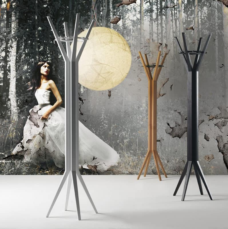Grillo, Modern wood coat stand for Living room