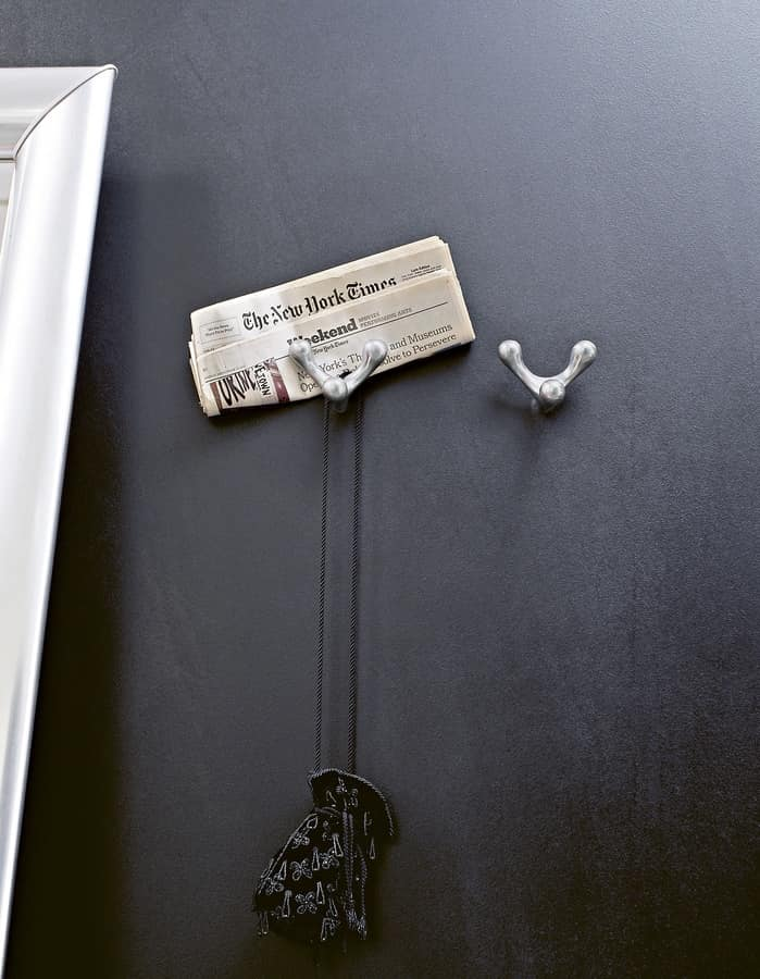 Hang-Up, Coat hook in aluminum, with sinuous form