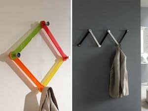 k123 bobi, Modular wall hangers, made of plexiglass