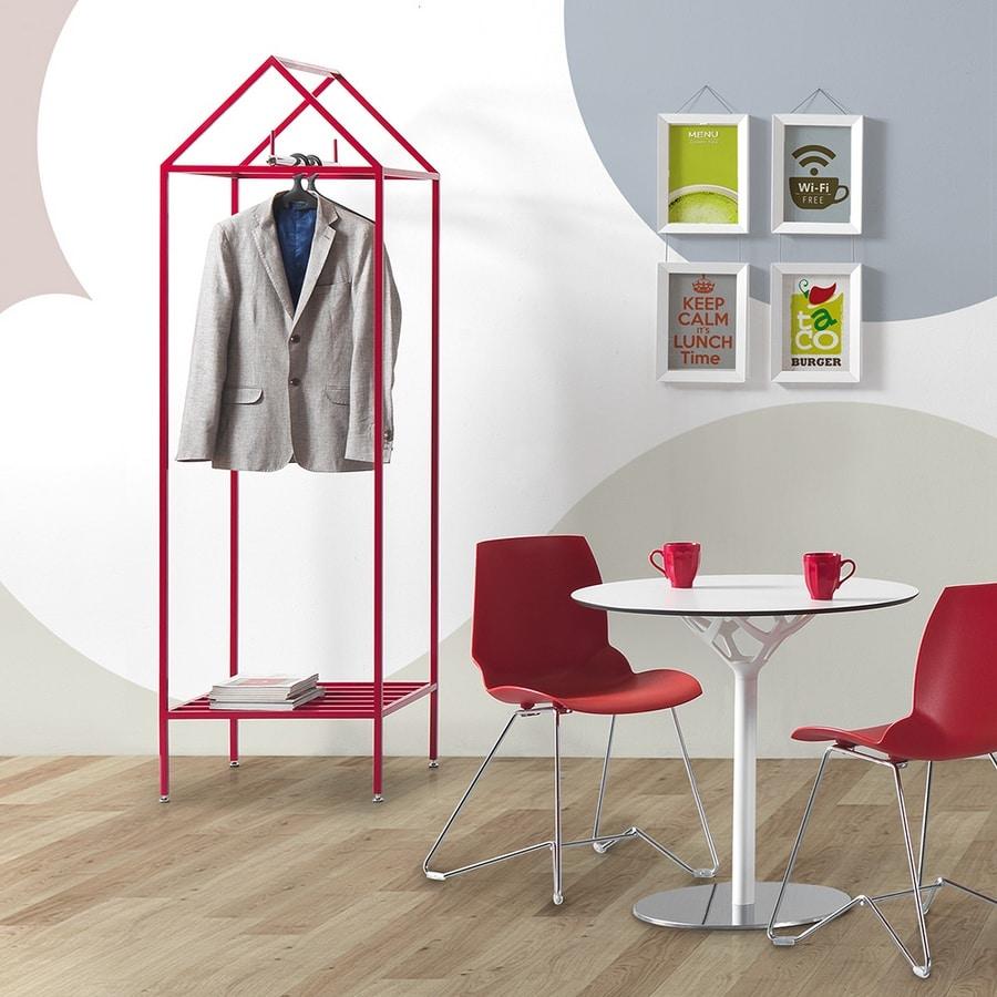 Lido, Freestanding coat stand in painted steel