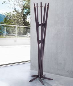 Maestrale, Coat stand in birch wood