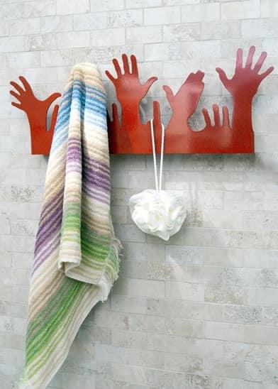 People, Modern metal hanger, in the shape of hands