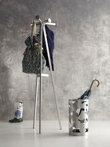 Marcus coat stand, Hanger made of iron tubing, laser cutting