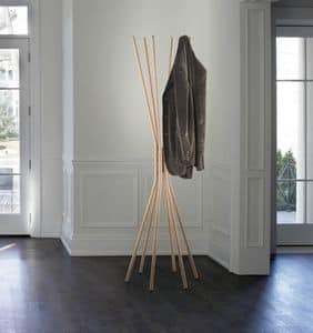 Mikado, Hanger made of steel, with finishing in wood