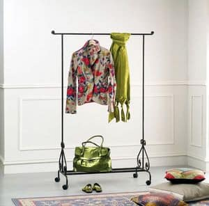 Stander, Coat stand on wheels, for bedroom and entry