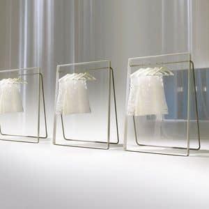 STENDER comp.02, Modern clothes hanger for bedrooms, metal hanger for hotel