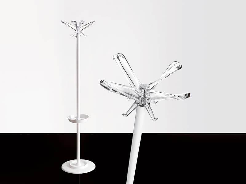 Swing T coat stand, Coat stand in painted steel with umbrellas stand