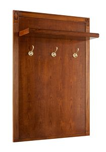 Villa Borghese Wall mounted coat rack 9368, Coat rack in cherry wood