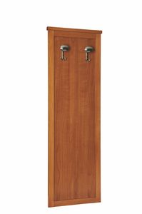 Zeno wardrobe element, Wooden panel with hanger, for hotel rooms