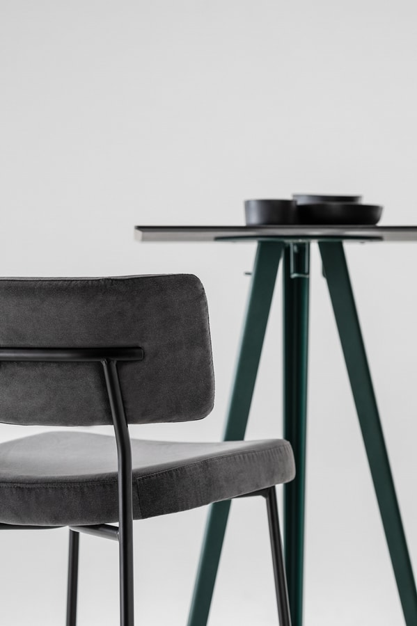 ART. 0121-MET-CONTRACT AKY, High bar table with ash top