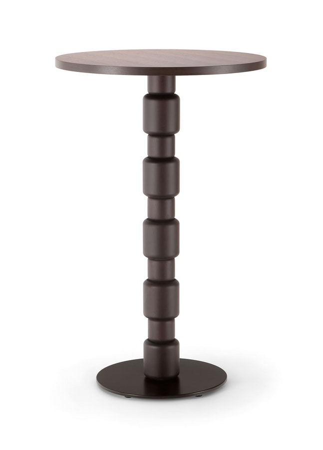 BERLINO TABLE 080 H110 T, High table for contract