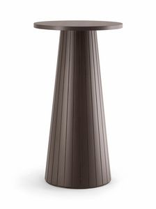 CORDOBA TABLE 082 H110 T, High wooden table, round top