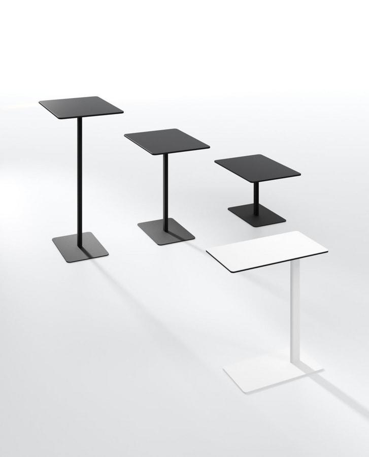 Sibì A, High table with rectangular base