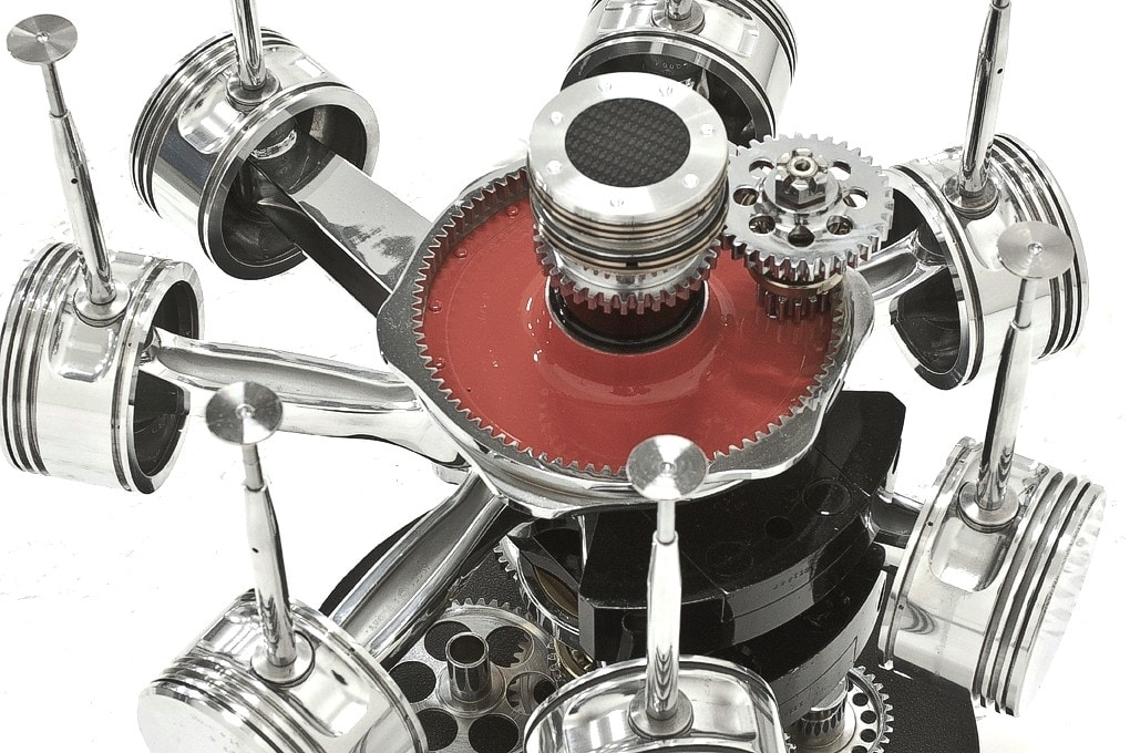 AIR-TAV0036, Coffee table made with parts of an airplane engine