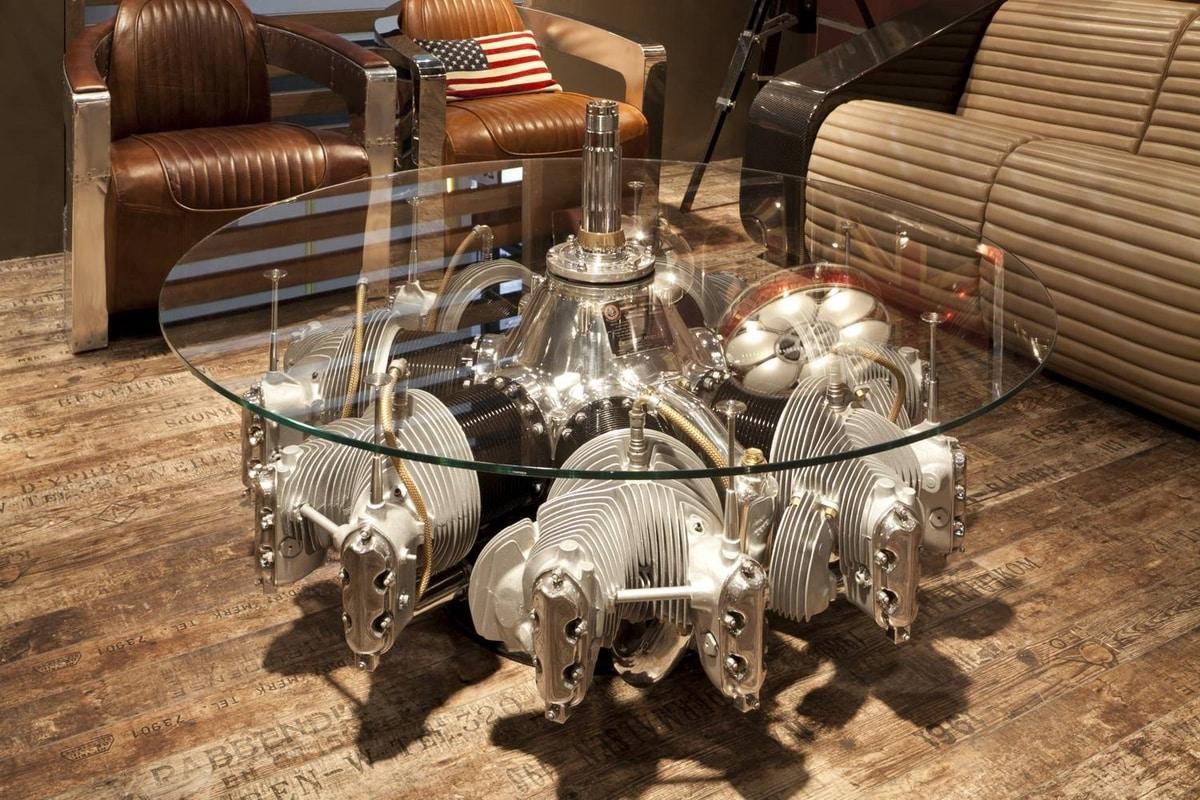AIR-TAV0052, Coffee table made with an airplane engine