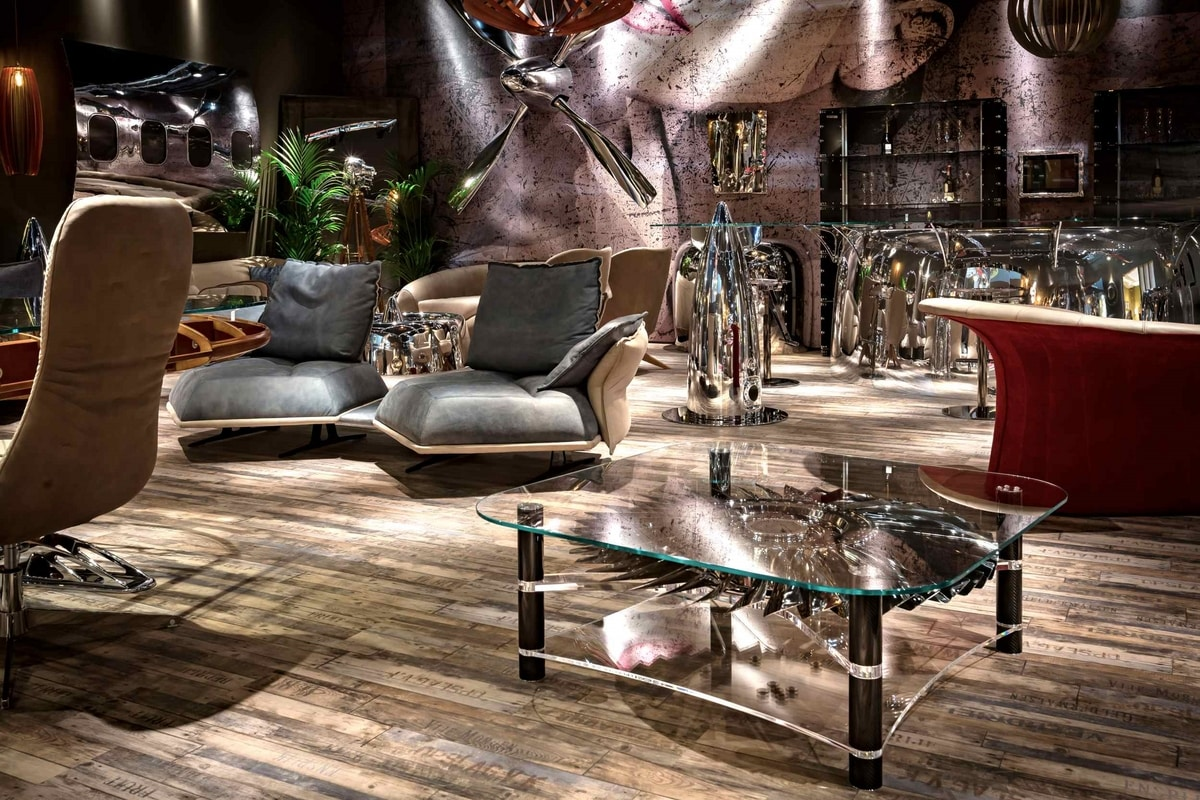 AIR-TAV0165, Coffee table produced with original airplane parts