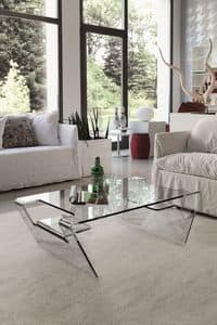 AIRONE TLC06, Glass coffee table for modern living
