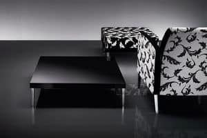 ART. 216 HOLLY, Coffee table with metal legs, top in lacquered MDF
