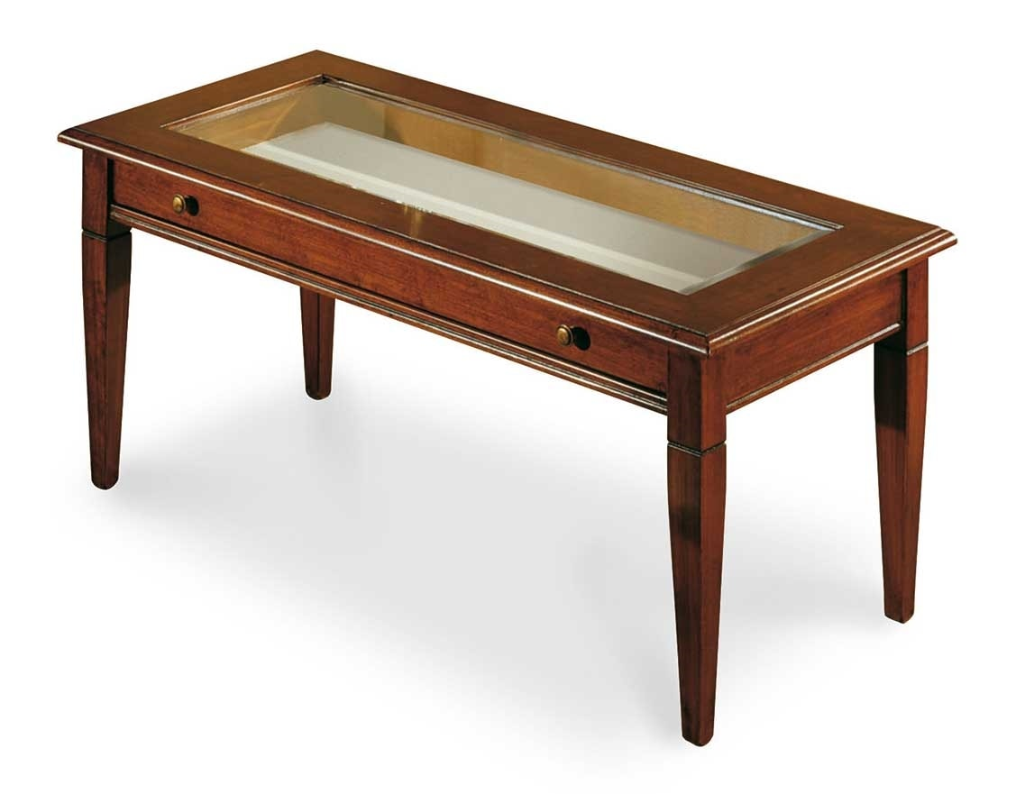 Art. 402, Exhibition table with glass top