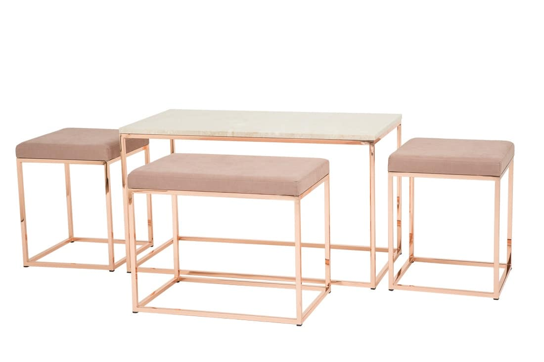 Art.Dalì little table, Table for the center room, in copper finished, living room