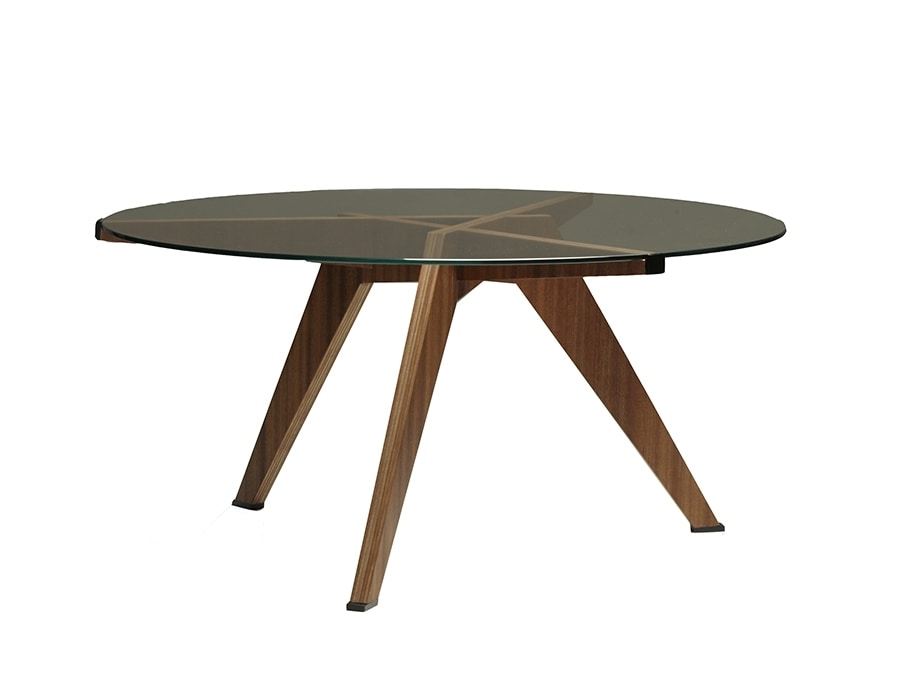 Boomerang 5601/N, Coffee table with glass top