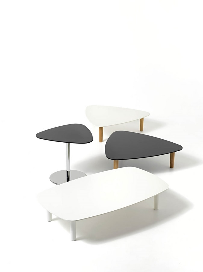 Bread, Modern coffee table for center hall with laminate top