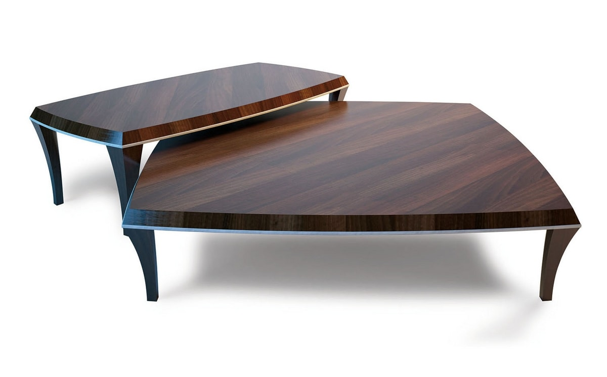 Broadway, Coffee table with leather edge