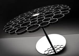 Bubble, Steel and glass coffee table, original design of top