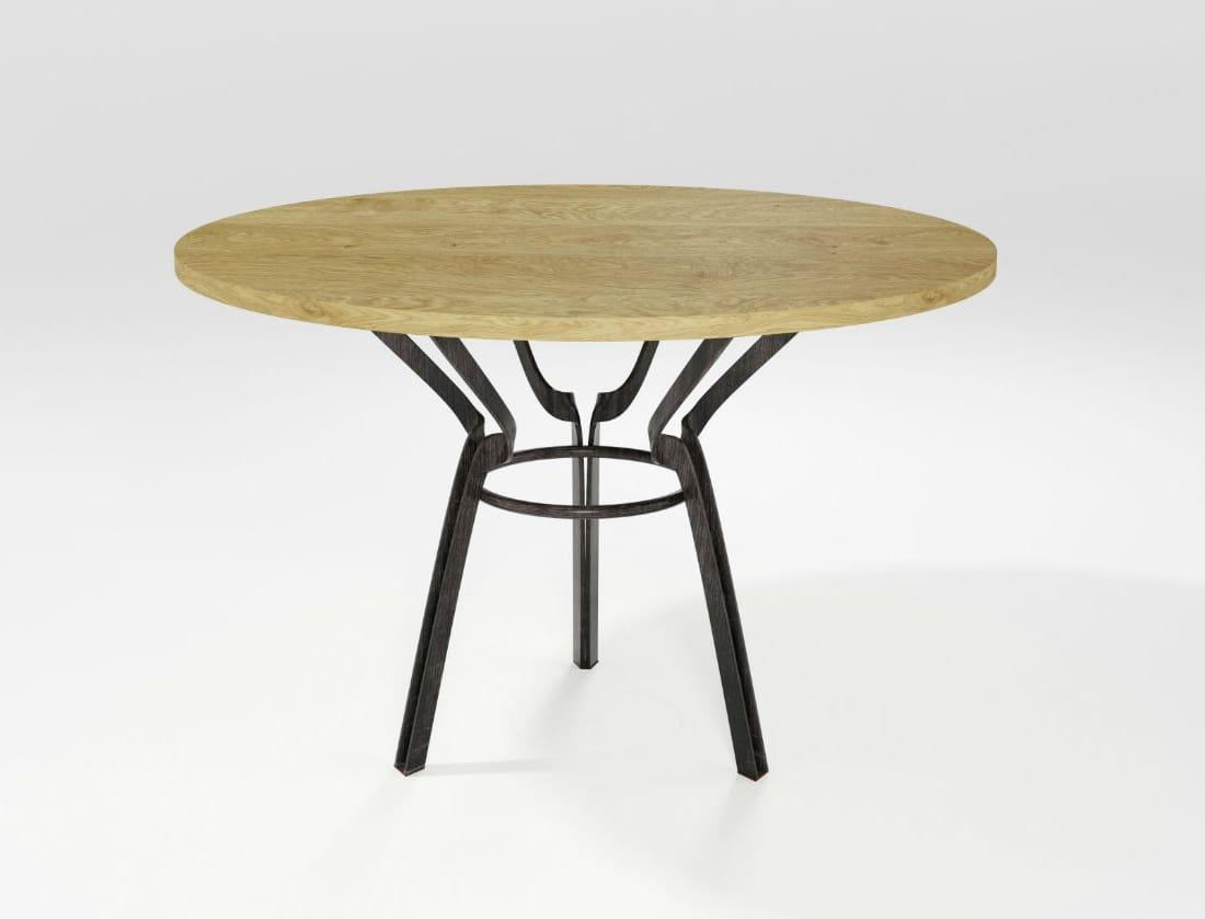Cerchio, Table with iron blade base