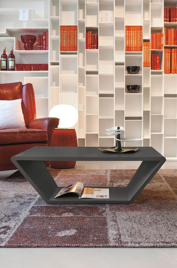 CONE TL506, Rectangular matt lacquered coffee table
