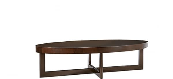 Criss Cross coffee table, Oval wooden table