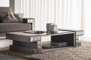 DCV 200, Upholstered coffee table, with glass top