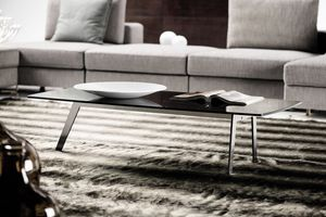 DCV 500, Coffee tables with smoked glass top