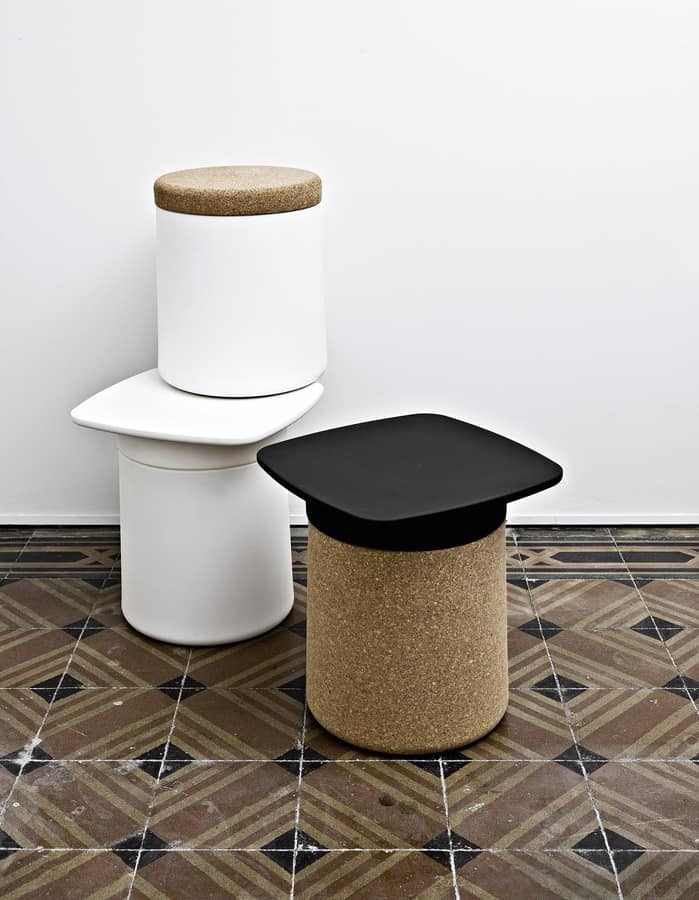 Degree, Multifunctional night table and stool in polypropylene
