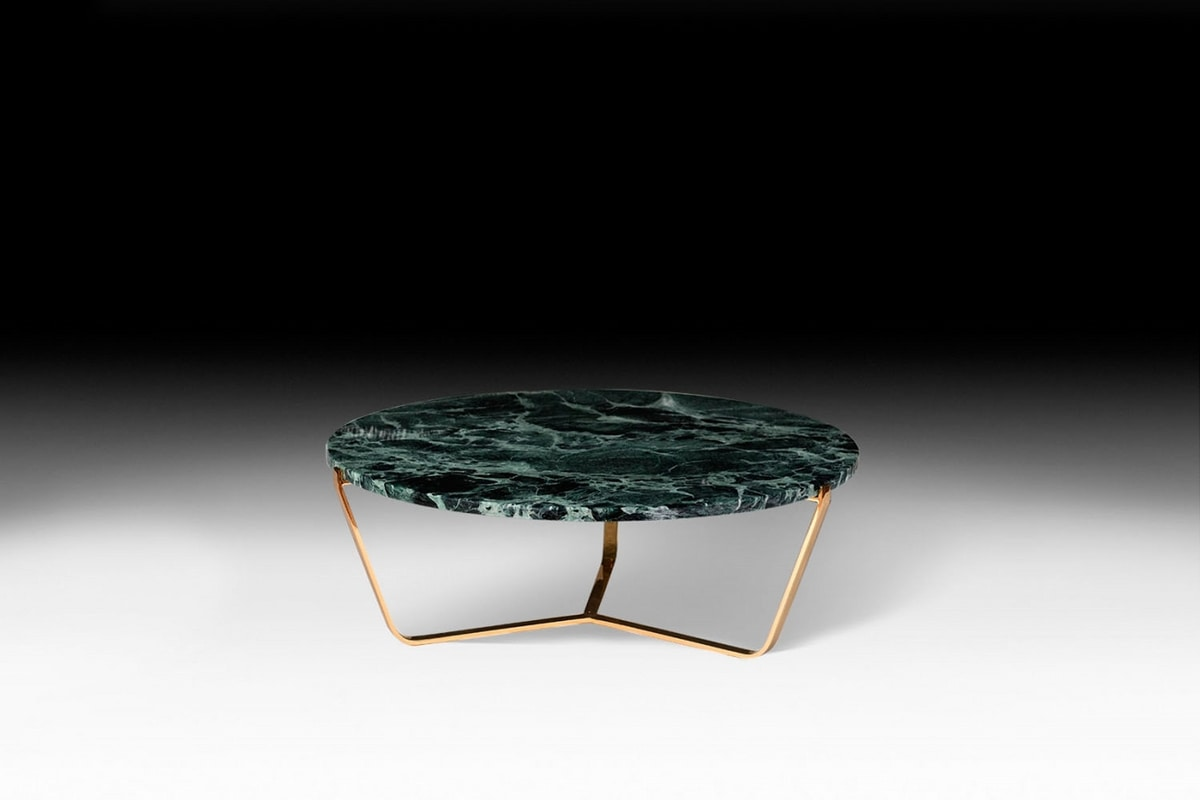Dolomiti, Low coffee table with marble top