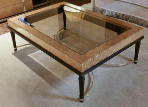 FLORA / rectangular coffee table, Coffee table with glass top