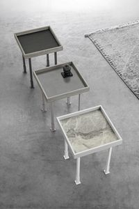 FRAME S TL527, Small table with porcelain stoneware top