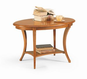 Friedrich occasional table, Occasional table in wood, with classical style