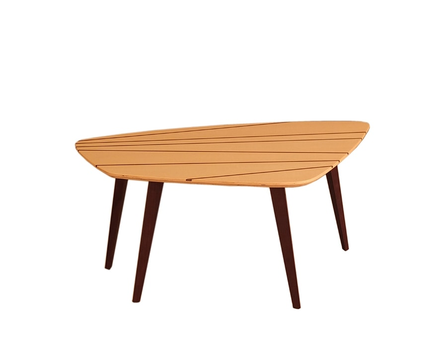 Gene 5616/A, Coffee table with inlaid wengè top