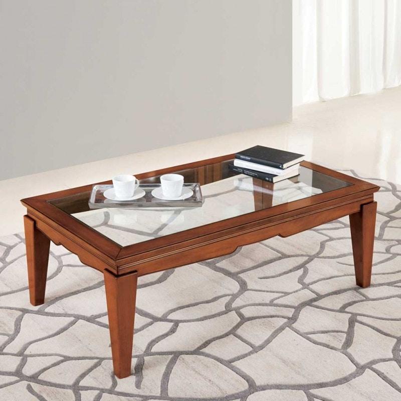 Giorgia GIORGIA3031, Coffee table with transparent glass top