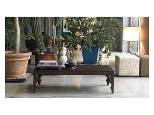 Giunone ST, Coffee table made of lacquered oak, for living rooms