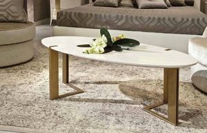 Gold Art. 6655, Lacquered oval coffee table