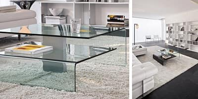 HARROW, Coffee Table with two glass tops
